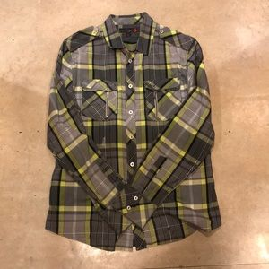 G by Guess Plaid Long sleeve Button Down Shirt
